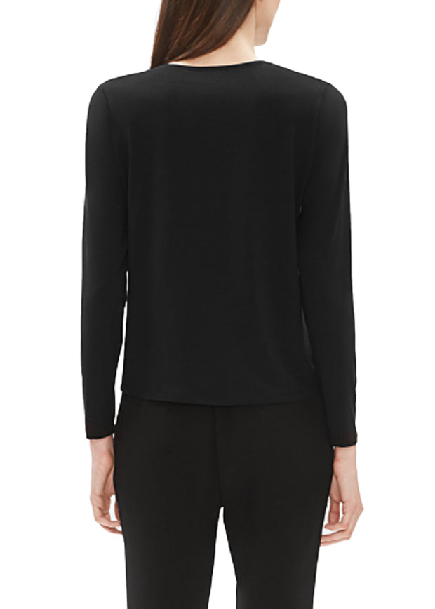 EILEEN FISHER - THE SYSTEM - JERSEY CREW NECK TOP - 1051913