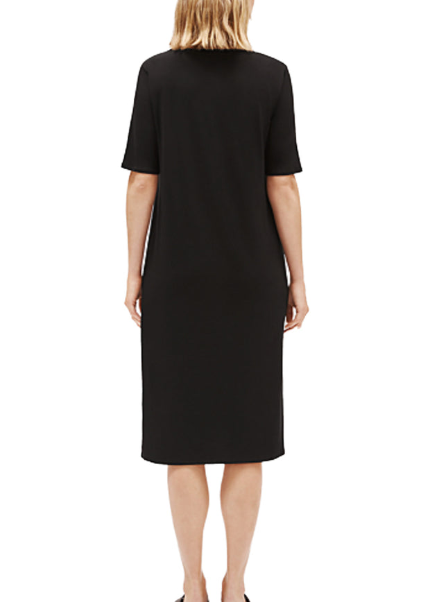 EILEEN FISHER - THE SYSTEM - ROUND NECK SHORT SLEEVELESS DRESS - 1055447