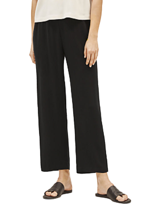 EILEEN FISHER - THE SYSTEM - SILK STRAIGHT LEG ANKLE PANT - 1056003