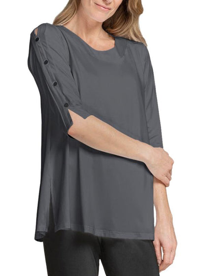 ICON TUNIC BLK, 3/4 SLEEVE - GRAPHITE