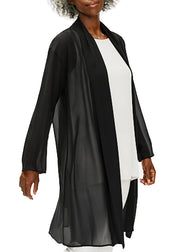 EILEEN FISHER - GEORGETTE HIGH COLLAR JACKET
