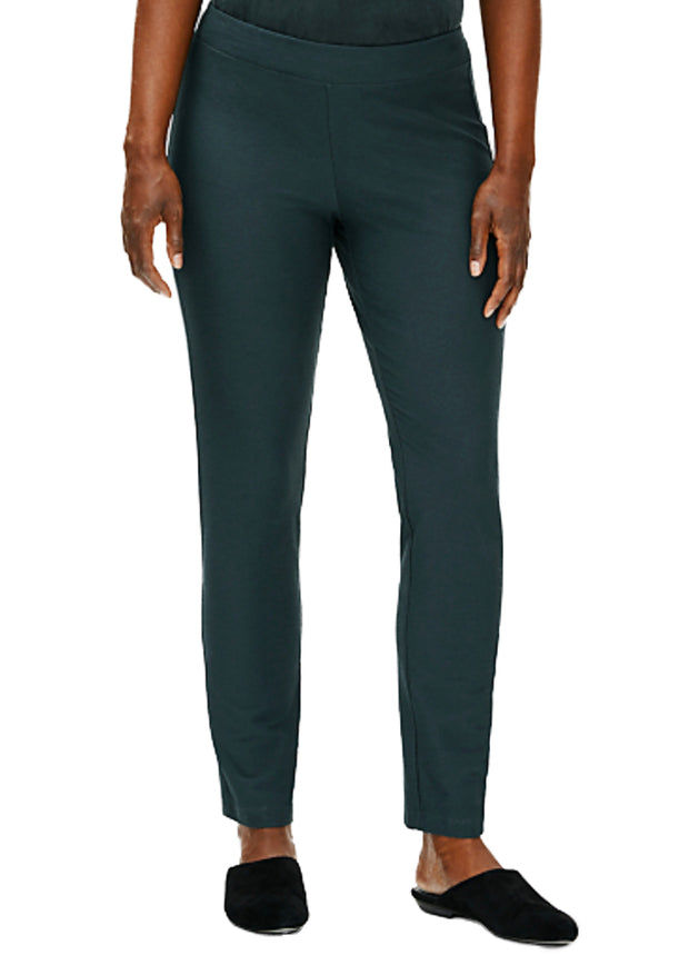 EILEEN FISHER - CREPE SLIM ANKLE PANT
