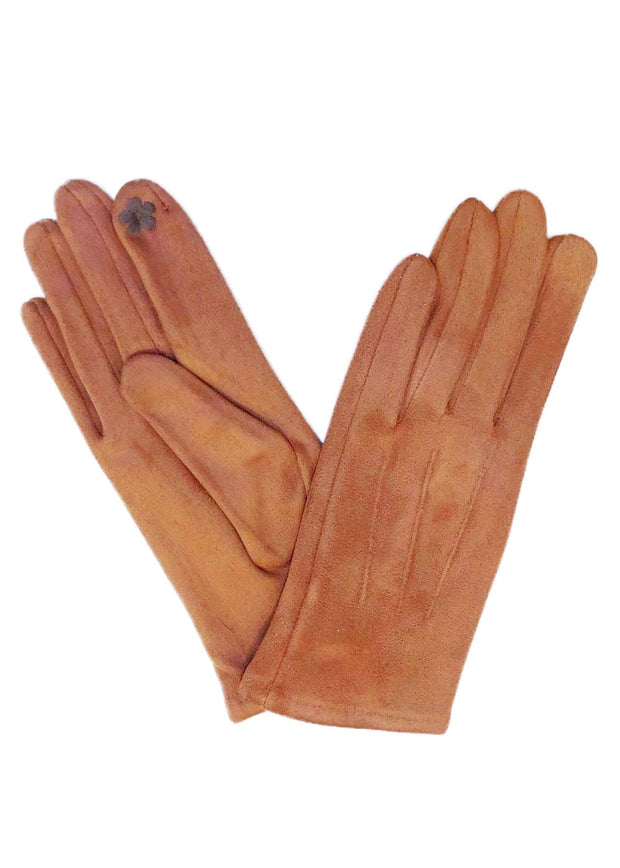 SUEDE SHORT GLOVES - NUTMEG