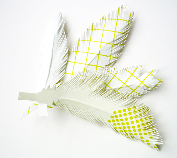 Set de 4 Plumes Yellow