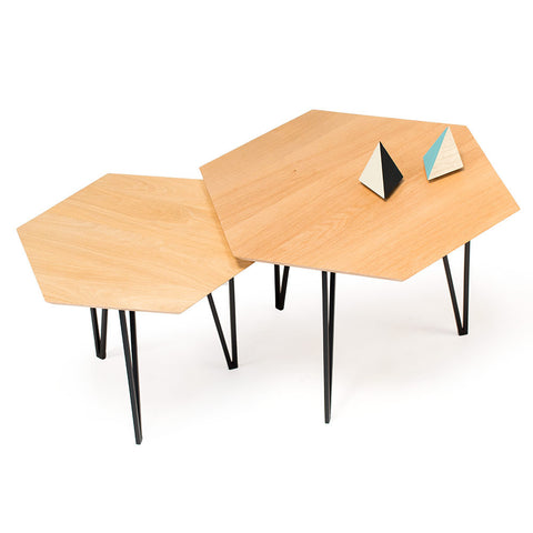 Set de 2 Tables Basses Tomette
