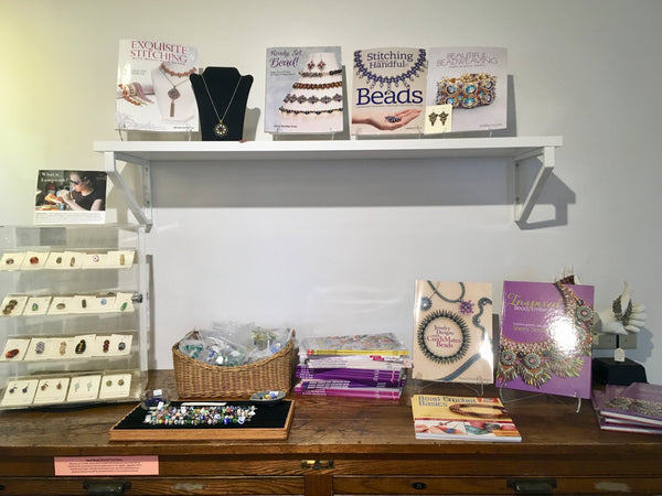 Beading books and handmade lampwork beads