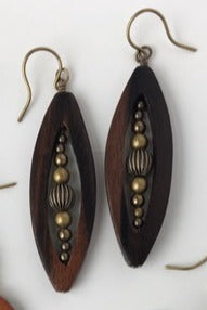 Wood Marquis Earring Kit