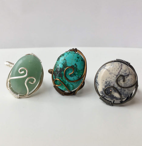 Coiled Stone Ring: July 27, 3 - 5pm | Class Sign Up