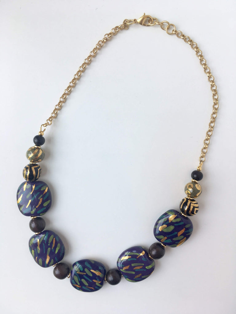 Kazuri Bead and Chain Necklace: July 20, 2 - 4:30pm  |  Class Sign Up