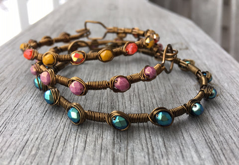 Wire Wrapped Bracelets: February 21, 6 - 8pm  |  Class Sign Up