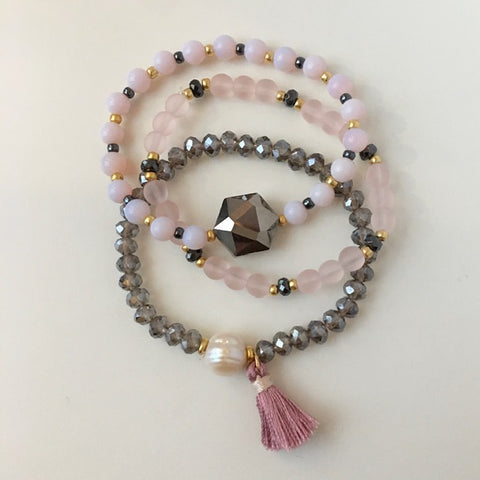 Rosy Stack Stretch Bracelet Kit
