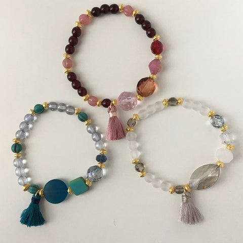 Tassel Trio Stretch Bracelet Kit