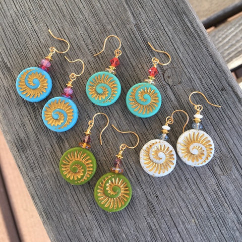 Golden Spirals Earring Kit