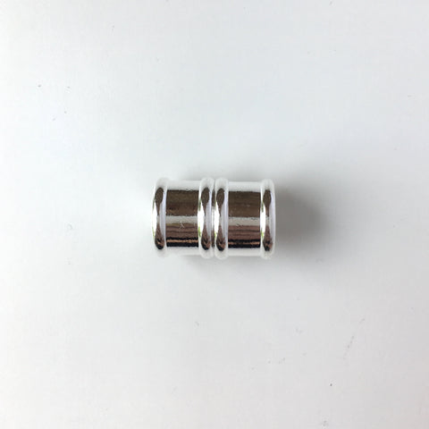 Bamboo Magnetic Clasp - 12mm - Silver Plated