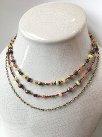 Triple Strand Necklace: April 26, 5:30 - 8pm | Class Sign-Up