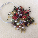 Holiday Memory Wire Bracelet Kits - Choose Style