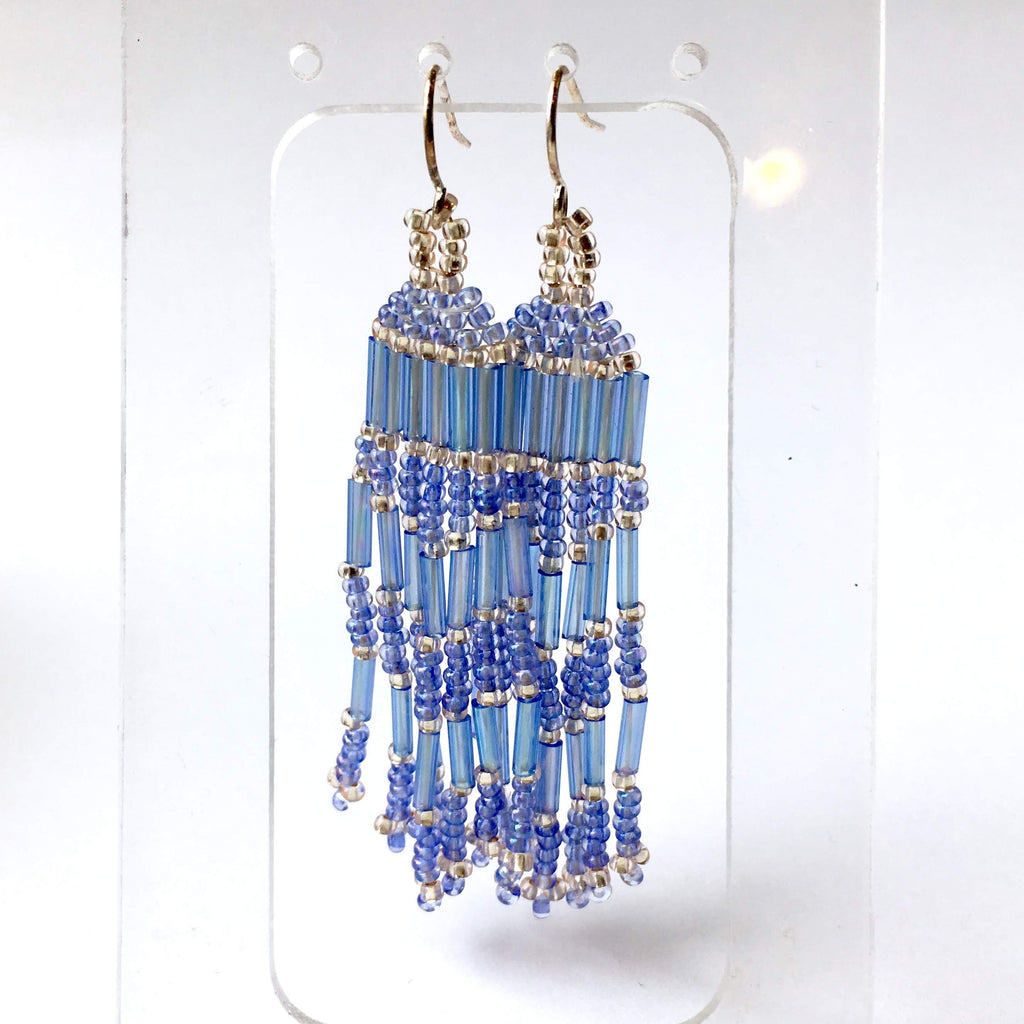 patterns hugerect pattern bead product simple sunset brick earrings tutorial beading stitch cascade
