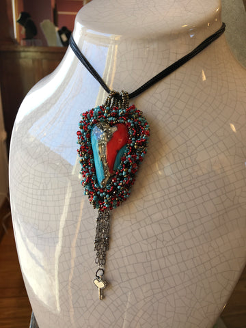 Bead Embroidery Heart with Tracey Levandoski + Artisan's Workshop - 4/17/21 Class Sign Up