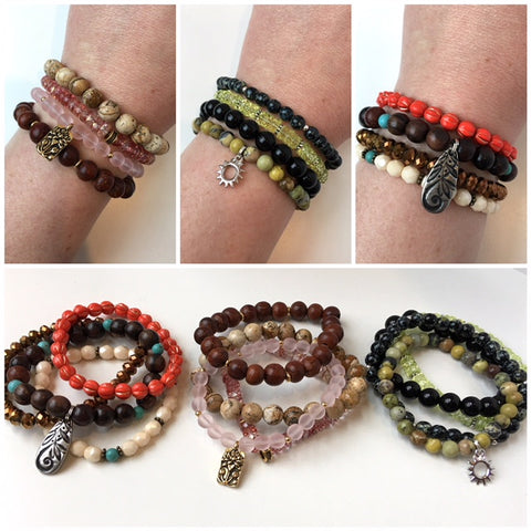 Stretchy Stacks Bracelet Workshop: March 14, 3 - 5pm | Class Sign Up