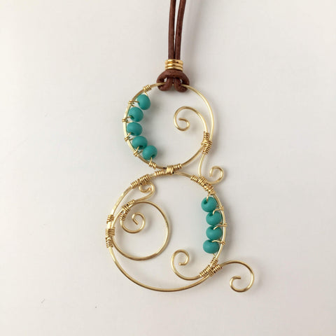 Swirly Wire Pendant: July 6, 10am - 12pm | Class Sign Up