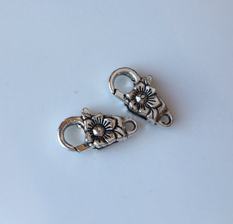 Floral Lobster Clasp, 2ct