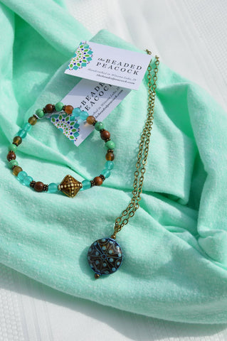 Mirage Bead Jewelry & Scarf Gift Set