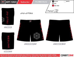 Redline Jiu-Jitsu Fight Shorts