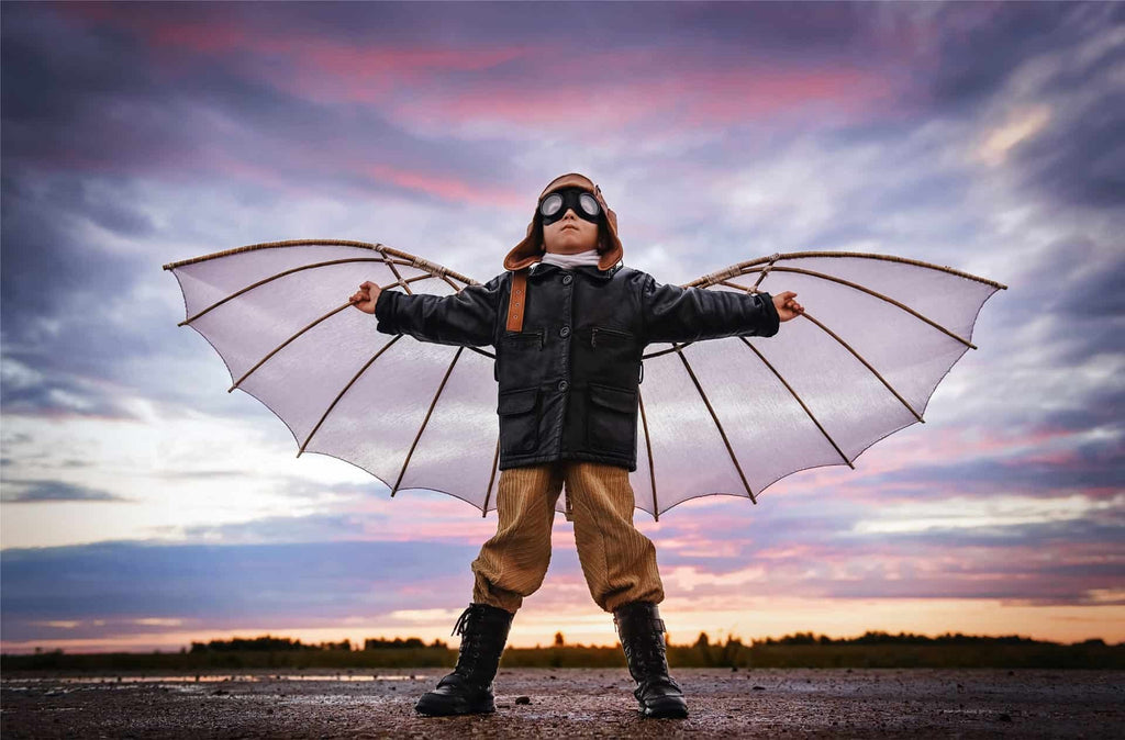 Small Boy with Wing Costume