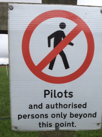 Pilots Only Sign