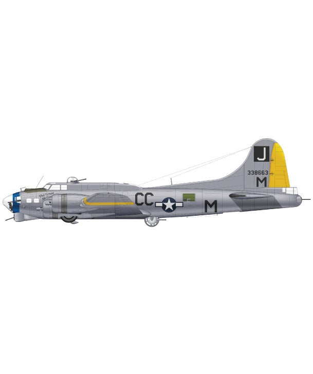 Graphic of B-17G Flying Fortress 43-338663 of 390th Bomb Group 569th Bomb Sqaudron