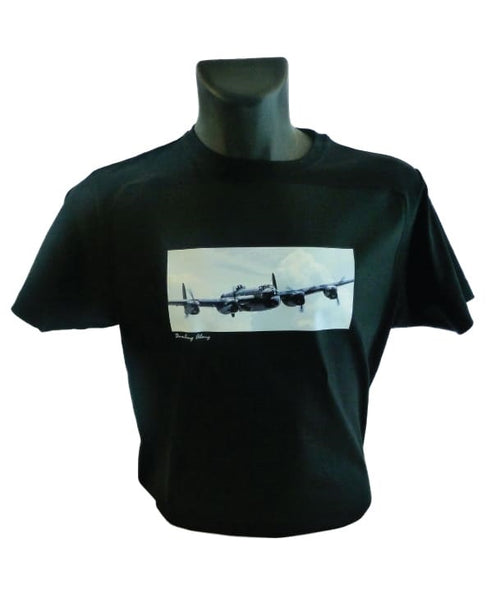 Bombing ALong Tee Shirt featuring Lancaster Bomber Artwork