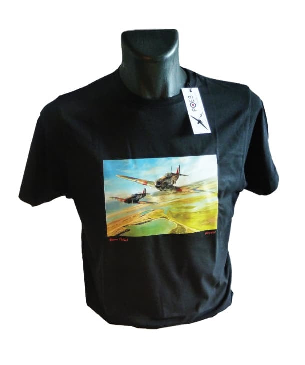 Limited Edition Billy Fiske T-Shirt featuring the Philip West painting 'Comrades in Arms on Morning Patrol'.