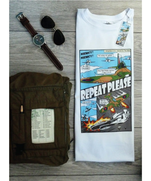 Repeat Please Tee Shirt Flat Lay