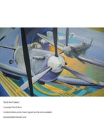 Gott the Fokker painting by artist David Bent