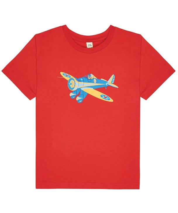 Little Wings Child's Peashooter Tee Shirt in Red