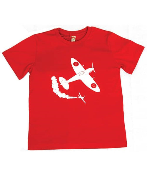 Little Wings Child's Spitfire Tee Shirt in Red