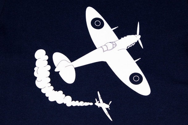 Detail of Little WIngs Child's Sweatshirt with Spitfire Design