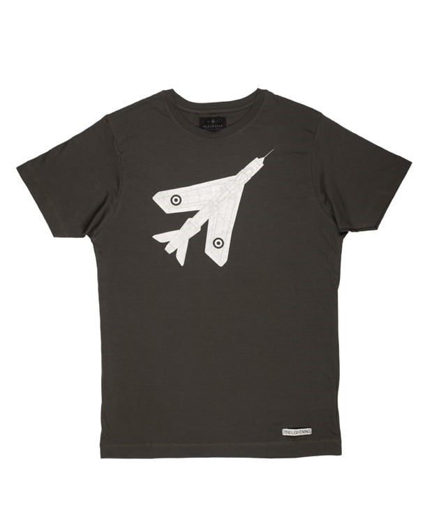 Lightning Tee Shirt in Charcoal