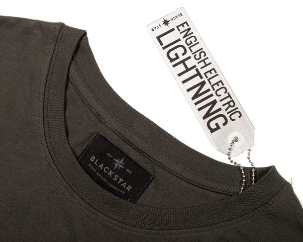Lightning Tee SHirt Swing Tag Front