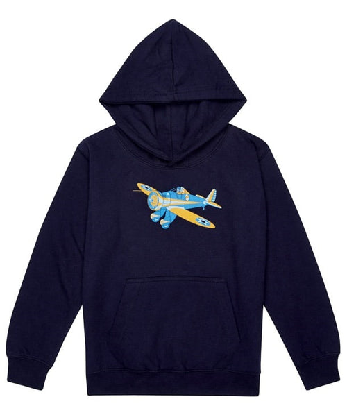 Little Wings Peashooter Hoodie in Navy