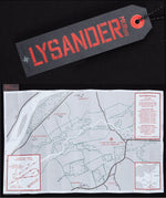 Lysander Swing Tag featuring fold out map of secret Landing Zone Gide