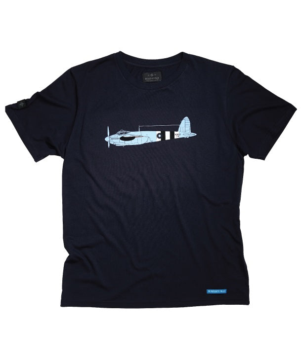 PR Mosquito Tee Shirt Front in Navy
