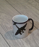 Mosquito Night Intruder Heat Sensitive Mug appearnce when 100% hot