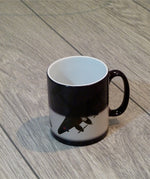 Mosquito Night Intruder Heat Sensitive Mug appearnce when 50% hot