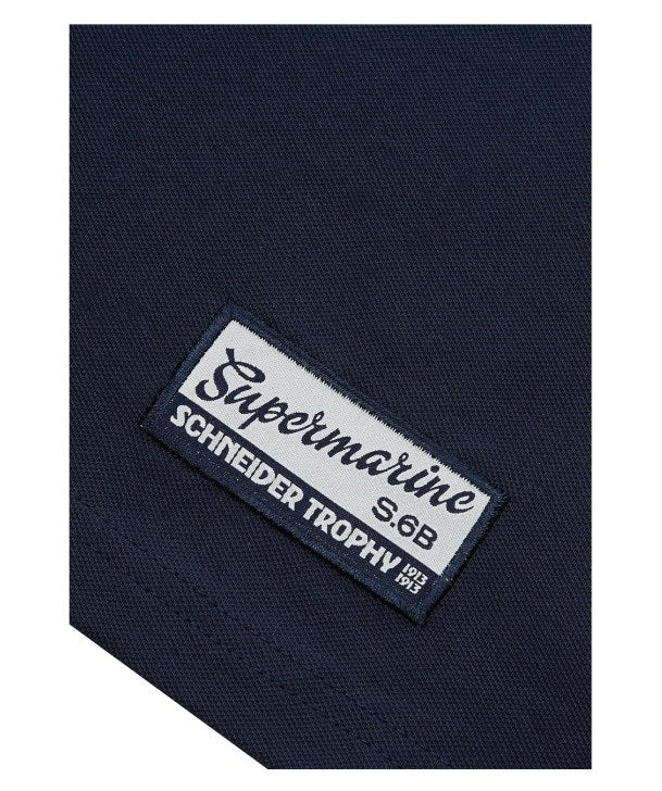Supermarine S6 Air Racer Polo Shirt Hem Tag  in Navy
