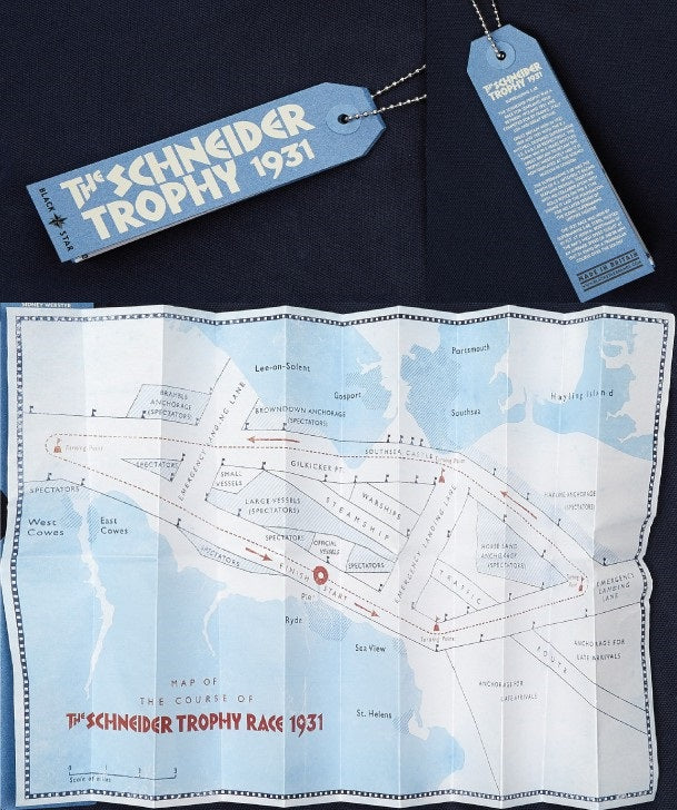 S6 Air Racer Polo Swing Tag with map of SChneider Trophy Race Route