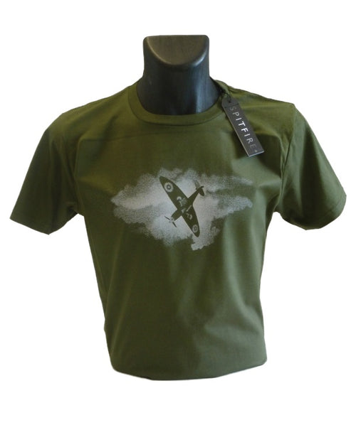 Spitfire Movie Official Tee Shirt in Moss Green