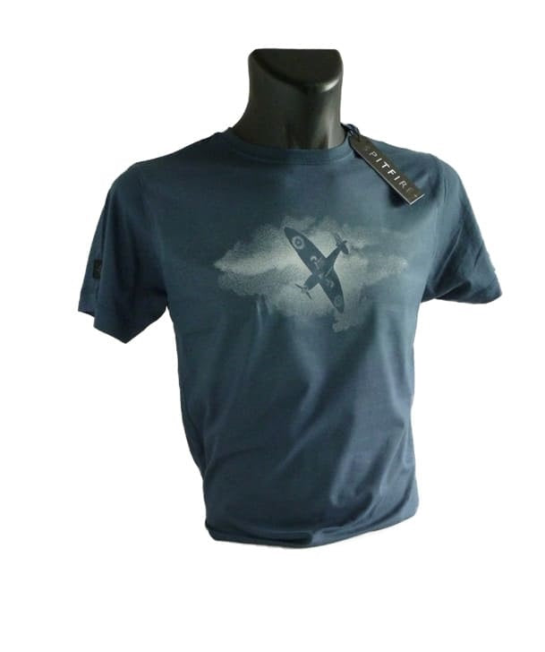 Spitfire Movie Official Tee SHirt in Denim Blue