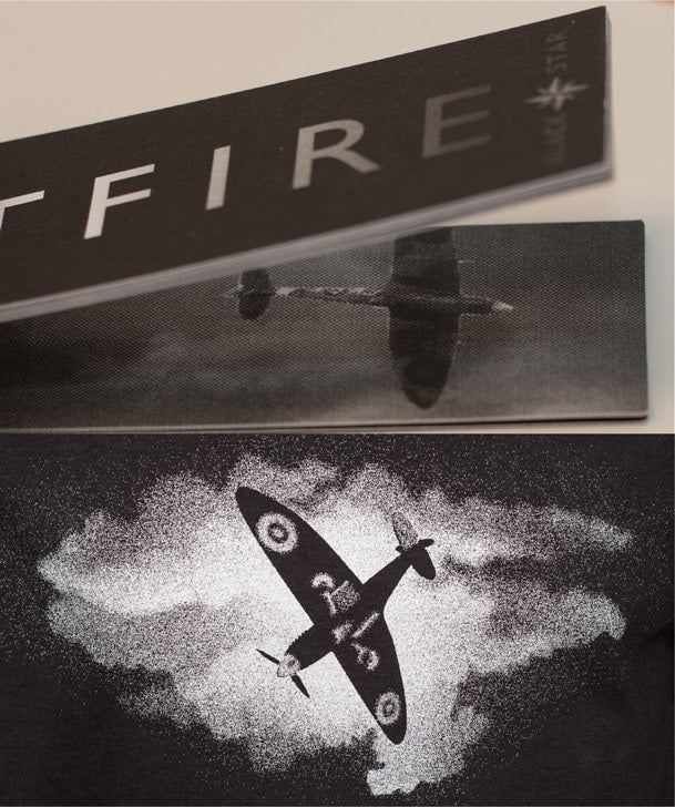 Swing Tag Flick Book for Spitfire Movie Tee Shirt