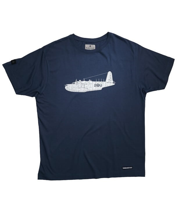 Sunderland Tee Shirt Front in Denim Blue